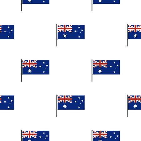proportional: Australian flag pattern seamless
