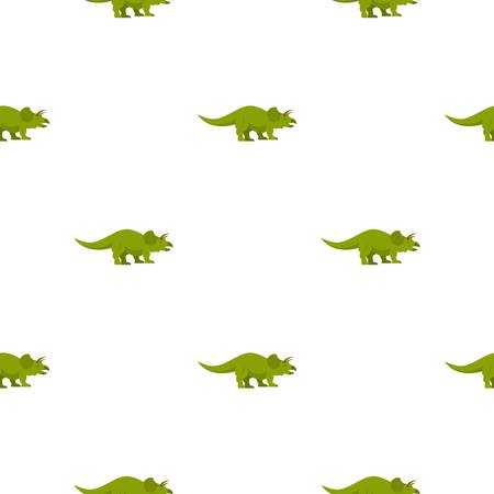 Green styracosaurus dinosaur pattern seamless for any design vector illustration