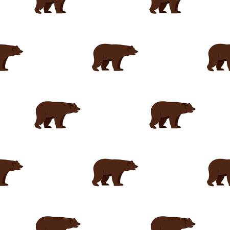 Grizzly bear pattern seamless for any design vector illustration