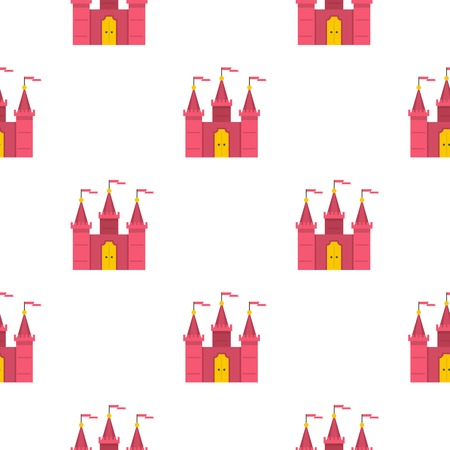 chateau: Castle pattern seamless for any design vector illustration