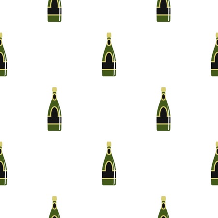 Champagne bottle pattern seamless for any design vector illustration