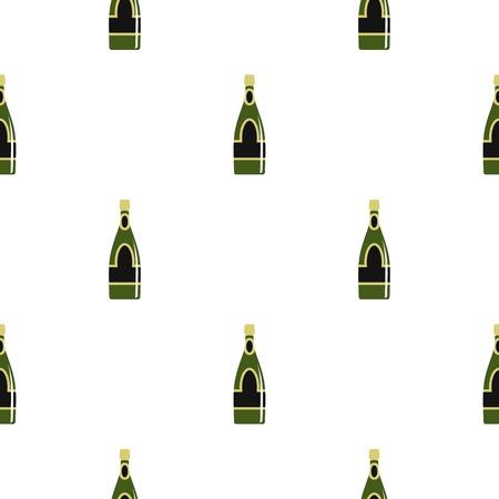 Champagne bottle pattern seamless for any design vector illustration