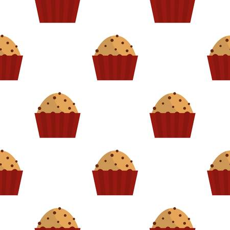 cupcakes isolated: Muffin with raisins pattern seamless for any design vector illustration