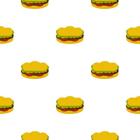 patties: Sandwich with meat patties pattern seamless for any design vector illustration