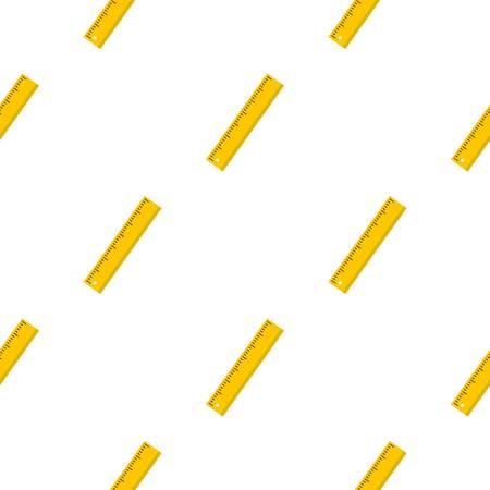 millimeters: Yellow ruler pattern seamless for any design vector illustration Illustration