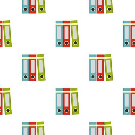 Rotes, grünes, blaues Büroordnermuster nahtlos für jede Designvektorillustration