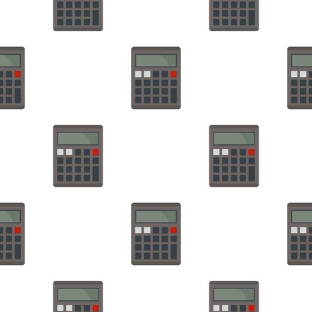 calculate: Grey electronic calculator pattern seamless for any design vector illustration