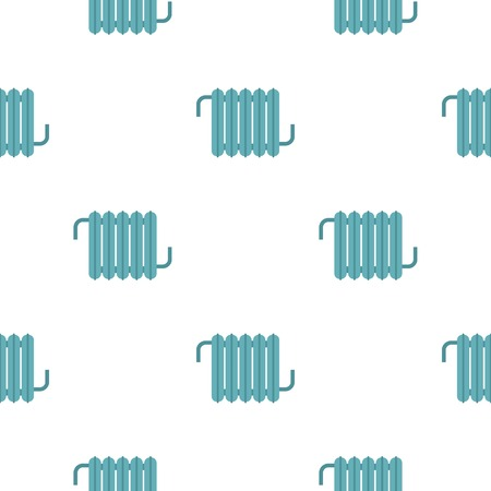 flat iron: Retro iron central heating battery pattern seamless for any design vector illustration