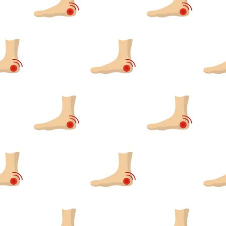 Foot heel pattern seamless for any design vector illustration