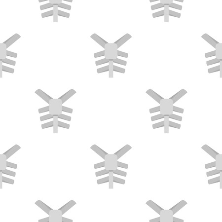 Human thorax pattern seamless for any design vector illustration