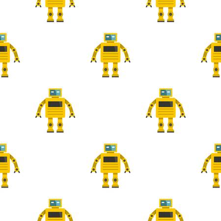 funny robot: Yellow humanoid robot pattern seamless for any design vector illustration Illustration
