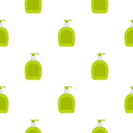Green bottle with liquid soap pattern seamless for any design vector illustration
