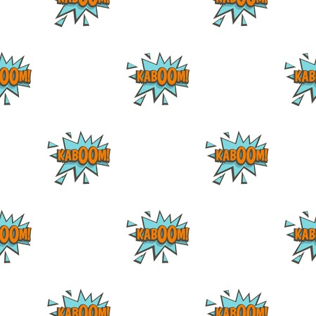 pattern: Kaboom, comic text sound effect pattern seamless for any design vector illustration