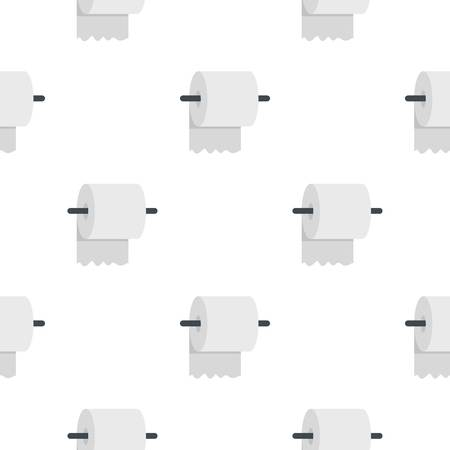White roll of toilet paper on a holder pattern seamless for any design vector illustration Illustration