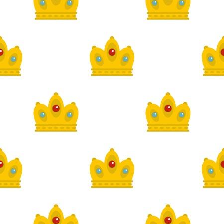 퀸 크라운 무늬 플랫