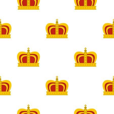 군주 왕관 패턴 플랫