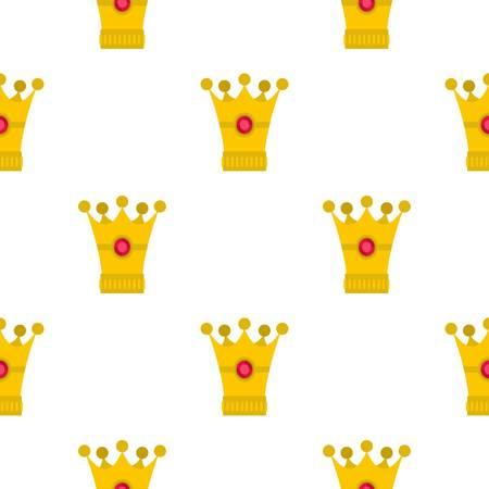 중세 왕관 패턴 플랫