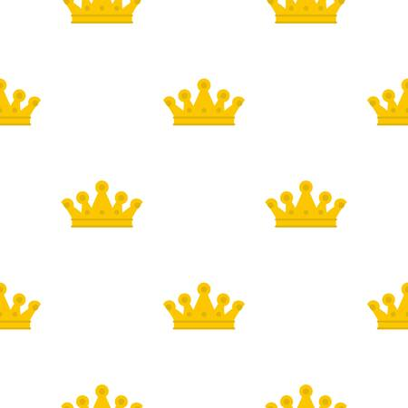 authority: Royal crown pattern flat Illustration