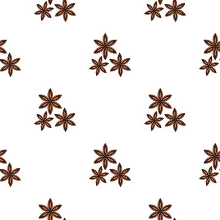 Star anise spice pattern flat Stock Vector - 80164120