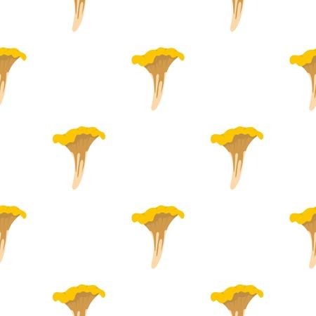 Chanterelle pattern flat Illustration