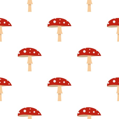 Amanita pattern flat Illustration