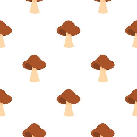 Small mushroom pattern flat Ilustração