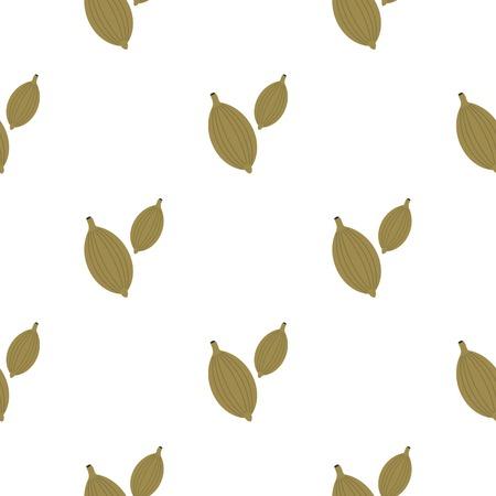 Green cardamom pods pattern flat