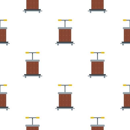 techniek: Wijnperspatroon plat Stock Illustratie
