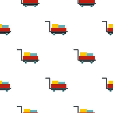 assisting: Luggage trolley with suitcases pattern flat
