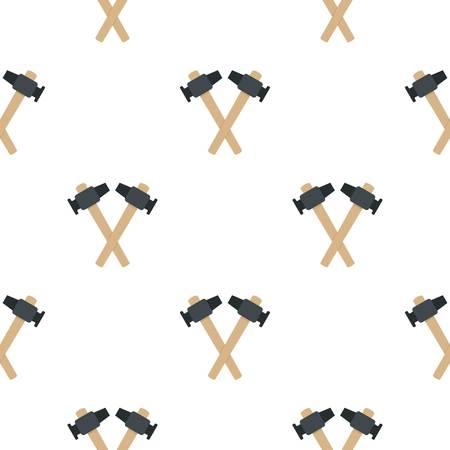 Gekruiste smid hamer patroon plat