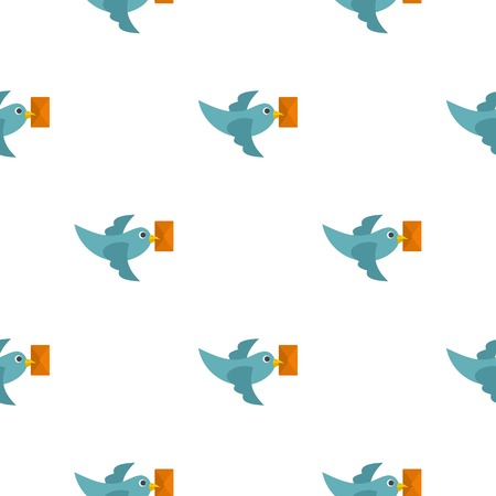 carrier pigeons: Dove carrying envelope pattern flat
