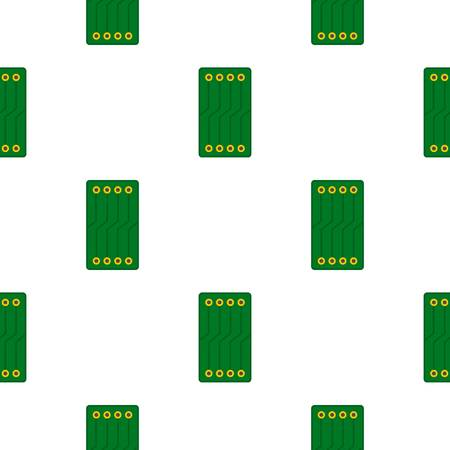 component: Green circuit board pattern flat