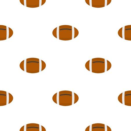 Brown leather rugby ball pattern flat