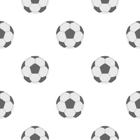 soccer goal: Soccer ball pattern flat Illustration