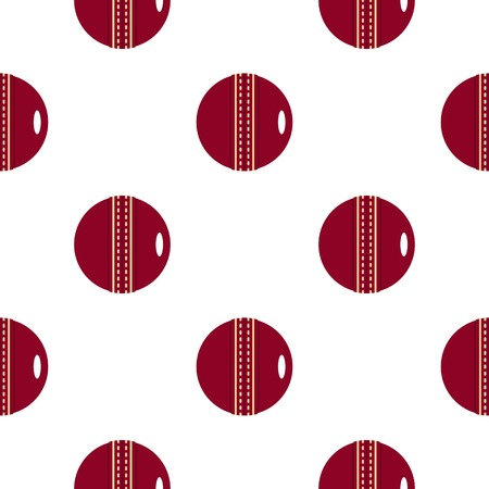criket: Red leather cricket ball pattern flat