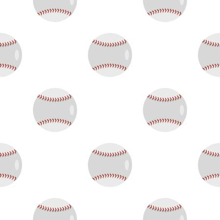 major league: Ball for playing baseball pattern flat Illustration