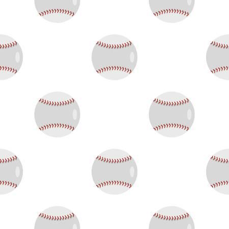 Ball for playing baseball pattern flat Ilustração