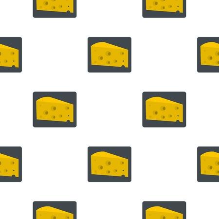 chunk: Piece of cheese pattern flat