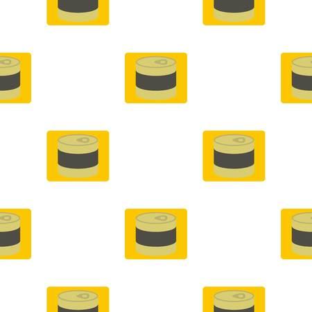 tin: Closed tin can pattern flat