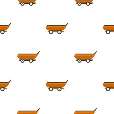 cushy: Orange car trailer pattern seamless flat style for web vector illustration Illustration
