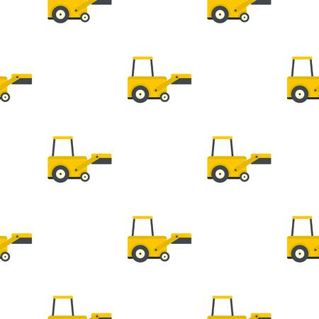 Yellow truck to lift cargo pattern seamless flat style for web vector illustration Illustration
