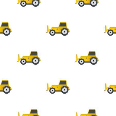 skid steer loader: Skid steer loader bulldozer pattern seamless flat style for web vector illustration