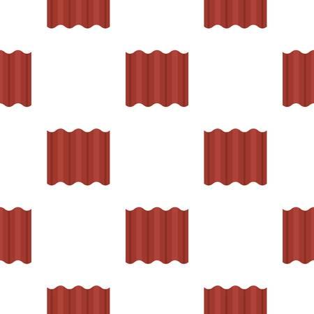 Het staal kleurde goffered plaat voor de naadloze vlakke stijl van het dakpatroon voor Web vectorillustratie Stock Illustratie