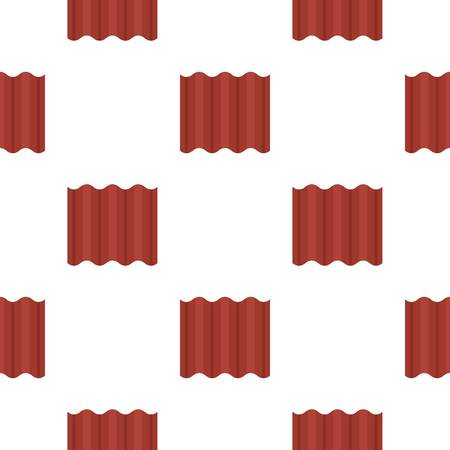 Steel colored goffered plate for roof pattern seamless flat style for web vector illustration