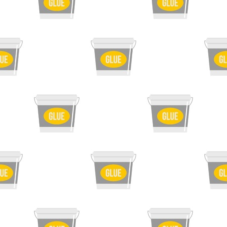 pail: Glue bucket pattern seamless flat style for web vector illustration
