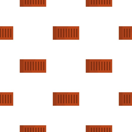 Orange brick pattern seamless flat style for web vector illustration