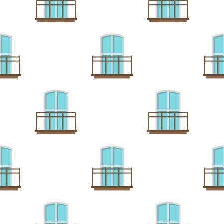 balustrade: Balcony in french style pattern flat Illustration