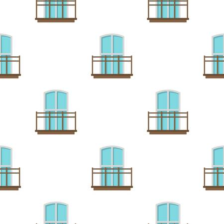 Balcony in french style pattern flat Stock Illustratie