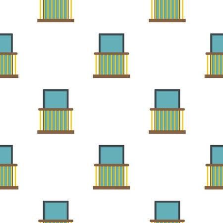 Balcony with yellow fencing pattern flat