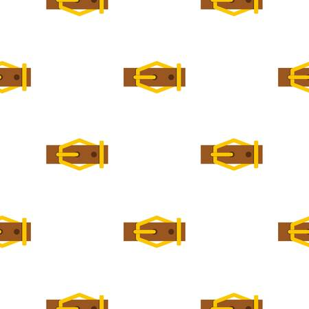 straps: Brown leather belt pattern flat